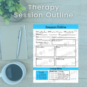 Therapy session outline image on desk